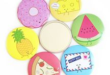 Pocket Mirrors / Cute little mirrors to check out your cute little face! All available from queeniescards.com