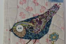 Appliqued bird quilt