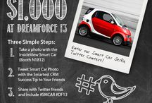 Dreamforce 13 Contests & Giveaways / InsideView has created some awesome contests and giveaways for #DF13--You could win $1,000 for tweeting a CRM tip and taking a picture with a Smart Car or enter to win a Smart Car!  #ivdf13 #df13 #dreamforce #contest #giveaway #twitter #tweet / by InsideView Inc.