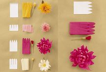 flowers from paper