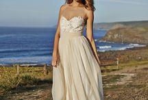 Wedding Dresses / -Vintage/bohemian -Champagne -A line -Strapless
