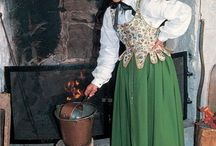 Bunads / Norway's national costume. They are based on old findings of clothes in different districts.