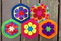 African flower hexagon meditation / by Crochetbug