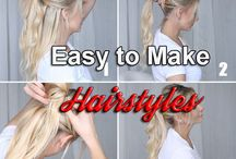 Easy to Make Hairstyles / Bored with your old fashioned look already? Why not try out this awesome Easy to Make Hairstyles that will catch everyone's attention.