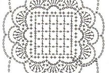 háčkováné čtverce
