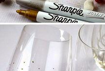 decoración vasos copas