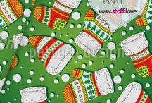 Weihnachten - Stoffe / Hier eine Auswahl an schönsten Weihnachtsstoffen, die wir für www.stoff.love umsetzen dürfen.