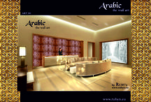 3D wall panels / ARABIC the art of wall. 3D wall panel system, which is unique not only in its form, but also in the material we used to create them. Wood, metal and china appear together on the wall panels that are decorated with arabesque figures. Some panels have a nacre or leather surface. Their decorative, sculpture-like appearance and their artistically developed, painted china and laser-cut metal overlays create a magical, oriental atmosphere.  http://www.rubyn.eu/arabic_wall_art.html