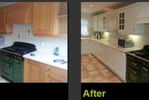 Kitchen Spray Painting / We can transform and refurbish your existing kitchen by professionally spray painting it for a fraction of the cost.   Minimal disruption, retain full use of your kitchen throughout & you can choose from over 100,000 colours!