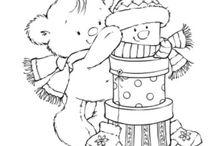 dibujos postal navidad