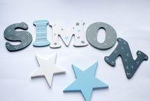 Buchstaben für Kinderzimmertür
