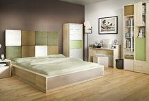 SYPIALNIA/ Bedroom / Wnętrza. sypialnia, urządzanie wnętrz, piękne wnętrza, meble