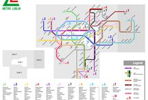 Transit systems / Set of railway and underground maps, real and imaginery