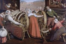 Spinning in Art / Images of spinning and related activities in art.