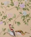Luxury Chinoiserie Wallpaper / 100% silk wallpaper, 100% handmade metallic wallpaper with custom antique finishing  Hand-painted chinese painting/ Hand-painted chinoiserie panels @ NSR HANDCRAFTS