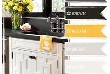 Kitchen w-b yellow