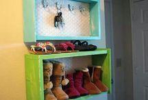 Repurposed drawers.