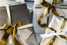 LUXURY GIFT WRAPPING / We love the finishing touches, it's what makes a gift special. Here are some inspiring luxury gift wrapping ideas we love. From satin ribbon, to glossy paper, you can never be over the top.