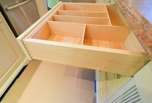 Drawers with inserts