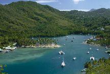Caraïbes / Carribean / West Indies / Photos des îles des Caraïbes : Sainte Lucie, Saint Domingue, Saint Martin, Saint Barthélémy, Dominique, Martinique ...