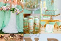 Wedding color inspiration mint and gold