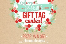 Rhonna Designs Merry Christmas Gift Tag Contest