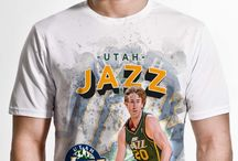 Utah Jazz / Officially licensed NBA player graphic apparel for all of the Utah Jazz top players.