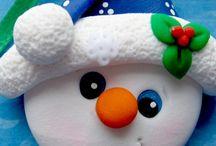 Χριστουγενιάτικς κατασκευές από πηλό
