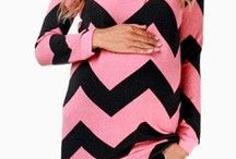 Pink maternity clothing / Maternity clothing in pink
