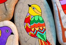 Cool rock painting / Bird Rock painting