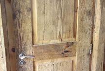 Drzwi ze starego drewna/Altholz Tür