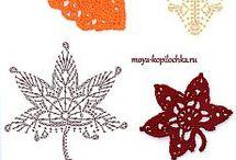 háčkované podzimní dekorace