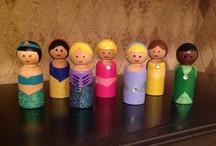 wooden peg dolls