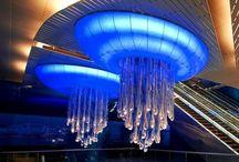 Water - Light Sculpture - Dubaj Metro