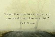 Art Quotes & Creative Inspiration / Words to creates by from the experts