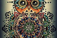 Quero tatuar / Tatuagem de corujas, lua, mandalas, simbolo do OM, coisas que acho foda e mais corujas!!