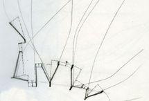 ARCHI - EFFILÉES / Architectures situées , paysages architecturés, architectures filaires, effilées, tissées, cousues, trames filiformes