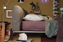 HOME: PLUM & GREY BEDROOM