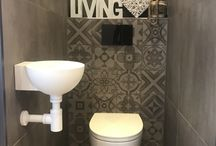 Toilet decor tegel