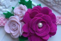 fiori di feltro