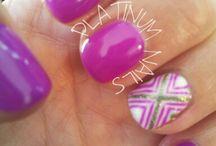 Platinum Nails / Nail art / Gelish nails