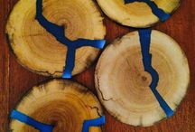 Resin and wood home decor