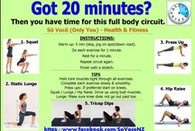 Fitness & Toning Circuits / These are all fitness & toning circuits you can do at home.  Minimum equipment (if any) needed, & all done in 20-30 minutes.  No excuses that you don't have time.
