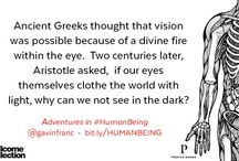 Adventures in Human Being / Adventures in #HumanBeing by GP/writer Gavin Francis takes the reader on a journey through the human body, from the ribbed surface of the brain to the unique engineering of the foot. http://bit.ly/1MBGyAC