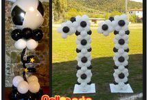 PALLONARTE NUMERONI con palloncini / Alcuni dei nostri numeroni realizzati con tanti palloncini.