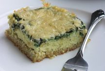 Quiona cake with spinach / Healty food, low carb, high protein