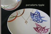Assiette / Peinture sur porcelaine