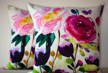 Bluebellgray Floral Cushions & Accessories / Beautiful floral cushions reproduced from original water colour artworks. Summer & spring images on a high quality cushions. Brighten up your living room or bedroom. Mix and match.