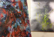 2015 paintings and inspiring colors! / Photos of art materials, canvases and paintings.