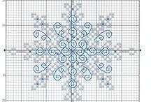 cross stitch / śnieżynka